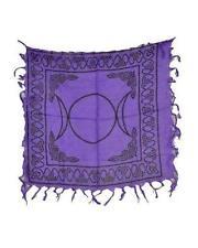 "Triple Moon Purple Altar Cloth 18"" x 18""    Wicca/Pagan/Metaphysical"
