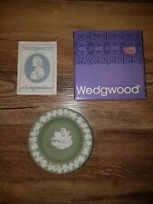 wedgwood jasperware green small tray with original box and leaflet
