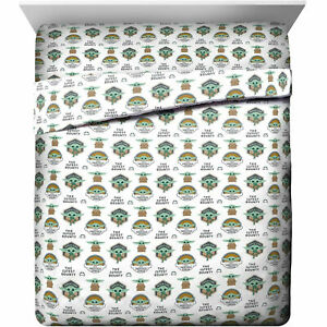 Star Wars The Mandalorian The Child Queen Sheet Set Multi-Color