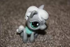 Littlest Pet Shop Gray Horse #524 Raceabout Ranch Green Eyes Saddle LPS Toy RARE