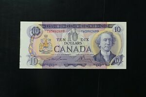 Canada 1971 $10 ch-UNC with extra sleeve Lawson Bouey sign (v188)