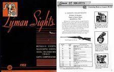 Lyman 1951-52 Sights Catalog No. 36