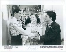 1986 George Lorraine & Marty McFly in The 1950s Back to The Future Press Photo