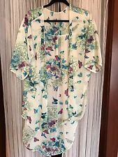Anthropologie sheer duster butterfly print nwot s/m