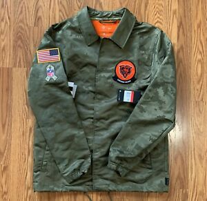 New Mens Nike NFL Salute to Service Chicago Bears On Field Sideline Jacket Sz L