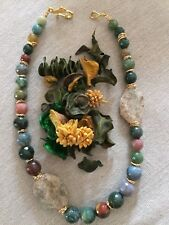 Collana donna pietre dure naturali: agata indiana sfaccettata, Crystal garden.