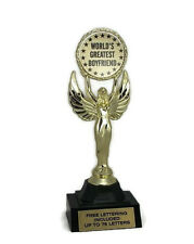 World's Greatest Boyfriend Trophy- Love- Admire- Respect- Honor- Free Lettering