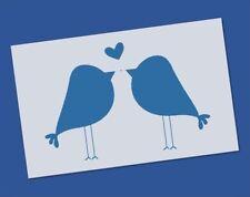 Reusable Mylar Cute Love Bird Stencil - Airbrush Crafting Canvas decor Wall art