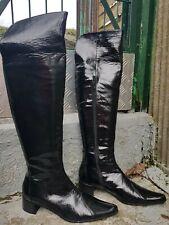 bottes vernis noires en vente | eBay