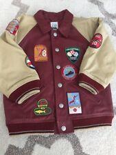 Gap Kids Leather Jacket Pilot Bomber Rare Boys Size 4