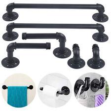 2 Sets Heavy Duty Industrial Pipe Towel Racks Towel Bar Wall Hook Fixture Set