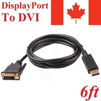 6FT Display Port Male to DVI-D Male Adapter Converter Cable Dual Link Computer