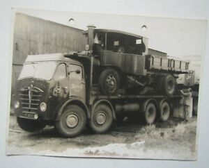 Old 'Reed Transport' Lorry Carrying Steam Wagon Photo