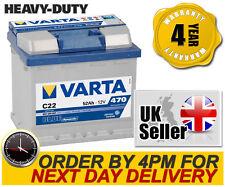 Varta Blue C22 Heavy Duty 012 Car Battery 12V 52AH 4 Year Warranty - 552 400 047
