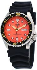 Seiko SKX011J Men's Rubber Band Orange Dial 200M Automatic Scuba Diver Watch