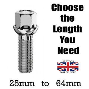 M14 x 1.50 Alloy Wheel Bolt Short to Extra Long Extended Radius Thread Length