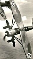vintage photo british lysander army in formation rppc