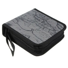 40 Disc Map CD DVD Storage Holder Sleeve Case Box Wallet Bag - grey ZH