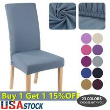 Us Stretch Dining Chair Covers Slipcovers Removable Banquet Protective Cover New