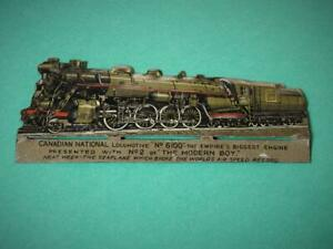 """CANADIAN NATIONAL LOCO No.6100 """"EMPIRES BIGGEST ENGINE"""" FROM THE MODERN BOY 1928"""