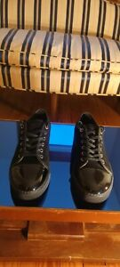 Lanvin black suede and leather sneakers *only worn once*
