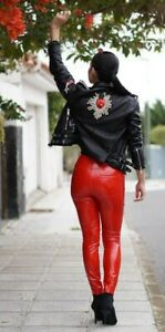 SEXY Wetlook jeans shiny liquid look glossy cosplay latex look PVC vinyl disco