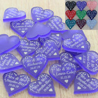 Wedding Favours Personalised Love Hearts Table Decorations Swirl Confetti 2cm