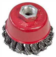 """75mm 3"""" TWIST KNOT WIRE CUP WHEEL BRUSH FOR ANGLE GRINDER"""