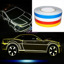 YELLOW 1.5CM X 45M SAFETY REFLECTIVE TAPE  ROLL STRIPE SELF-ADHESIVE CARS/TRUCKS