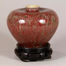 Antique Chinese Porcelain Waterpot Scholar's Object Peachbloom Glaze