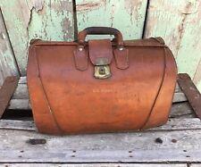 Vintage Brown Leather Salesman/Doctor/Lawyer/Pilot Briefcase - Sattler's
