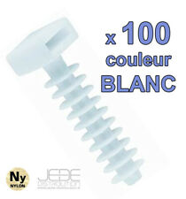 Embases à frapper BLANC Ø8mm pour colliers d'installation (pack de 100)