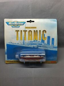 MICRO MACHINES SPECIAL EDITION R.M.S TITANIC SHIP IN A BOTTLE VINTAGE TOY
