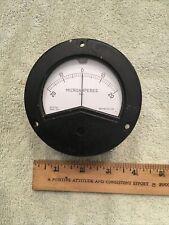 Vintage Radio Panel Meter Weston Center Scale 0 20 Microamperes Dc Me523