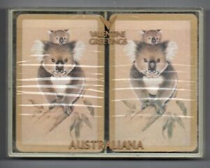 #N.013 Vintage Swap / Playing Card SEALED DECK, Koala with gold border, 1980's