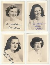 [57134] Circa 1950 LOT OF 4 ANSONIA, CONNECTICUT SCHOOL PORTRAITS