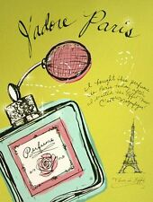 Studio 5: J'adore Paris Mode Fertig-Bild 30x40 Wandbild Fashion Style Girl Kult
