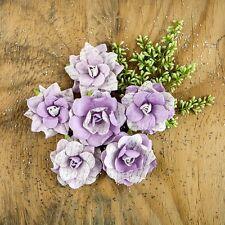 "NEW Prima ""Manhattan - Skyline"" 6 - 2"" Elegant Paper Flowers - in a Light Purple"