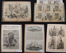 LOT of 5 Magazine Newspaper Engravings 19th Century