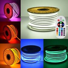 Waterproof LED Strip Neon Flex Rope Light Flexible Band Outdoor DIY Lighting
