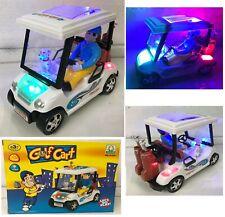 GOLF CART BUMP & GO CAR LED LIGHTS & SOUND WITH MAN & GUARD DOG TOYS