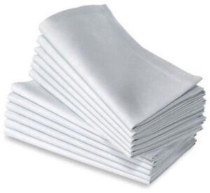 100PK WHITE COTTON COMMERCIAL RESTAURANT DINNER CLOTH 20X20  HOTEL NEW NAPKINS