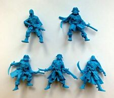 Set of 5 Pirates Plastic Toy Soldier 54mm 1/32 scale Tehnolog NEW Blue