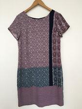 NEXT UK size 12, geometric print, cap sleeve, rear zip dress, business wear.
