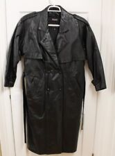 Wilsons Mens Coat  Sz S Leather Full Length Long Duster Trench Belted Steampunk