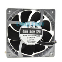 For Sanyo 9SG1248P1G03 48V 1.0A 12cm 4pin PWM Metal heat-resistant fan