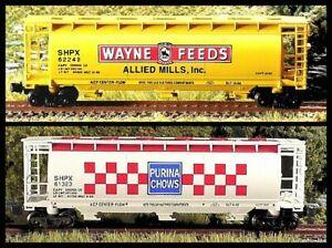 Z Scale FARM FEEDS Cylindrical Hoppers 2-pk.#1 FT NIB