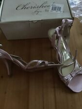 Cherished NEXT Womens Pale Pink Bow Sandals HEELS Shoes Size UK 4 / EUR 37