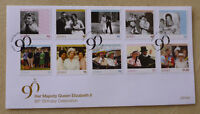 2016 JERSEY LEGACY OF QEII 90th BIRTHDAY SET OF 8 STAMPS FDC FIRST DAY COVER
