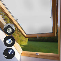 100% Blackout Blind Curtains Suction Cups Thermal for Velux Roof Windows White